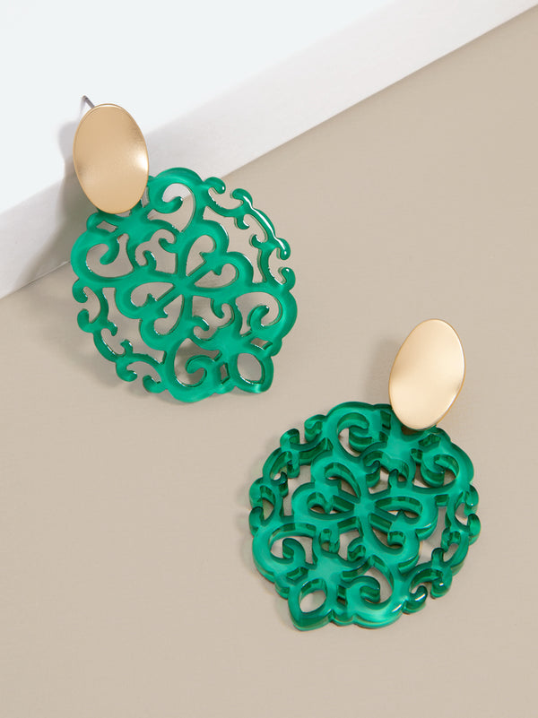 Mia Damask Drop Earring