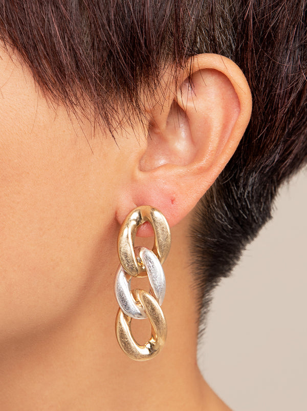 Camilla Curb Chain Drop Earring