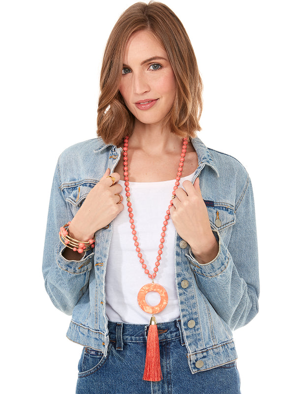 On The Move Tassel Necklace