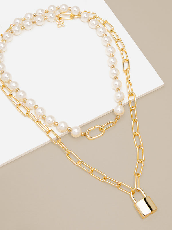 Erin Gold Lock Necklace
