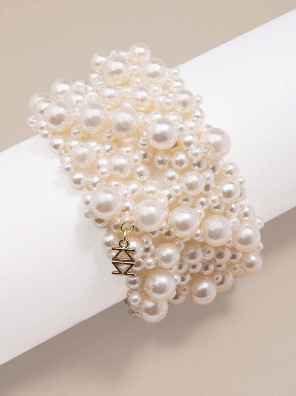 Regal Pearl Cuff Bracelet