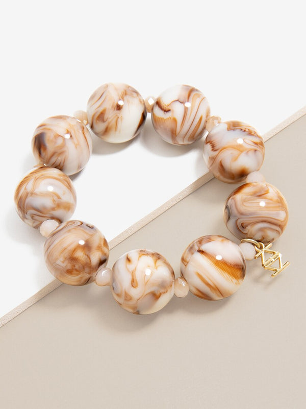 Chunky Marbled Stretch Bracelet