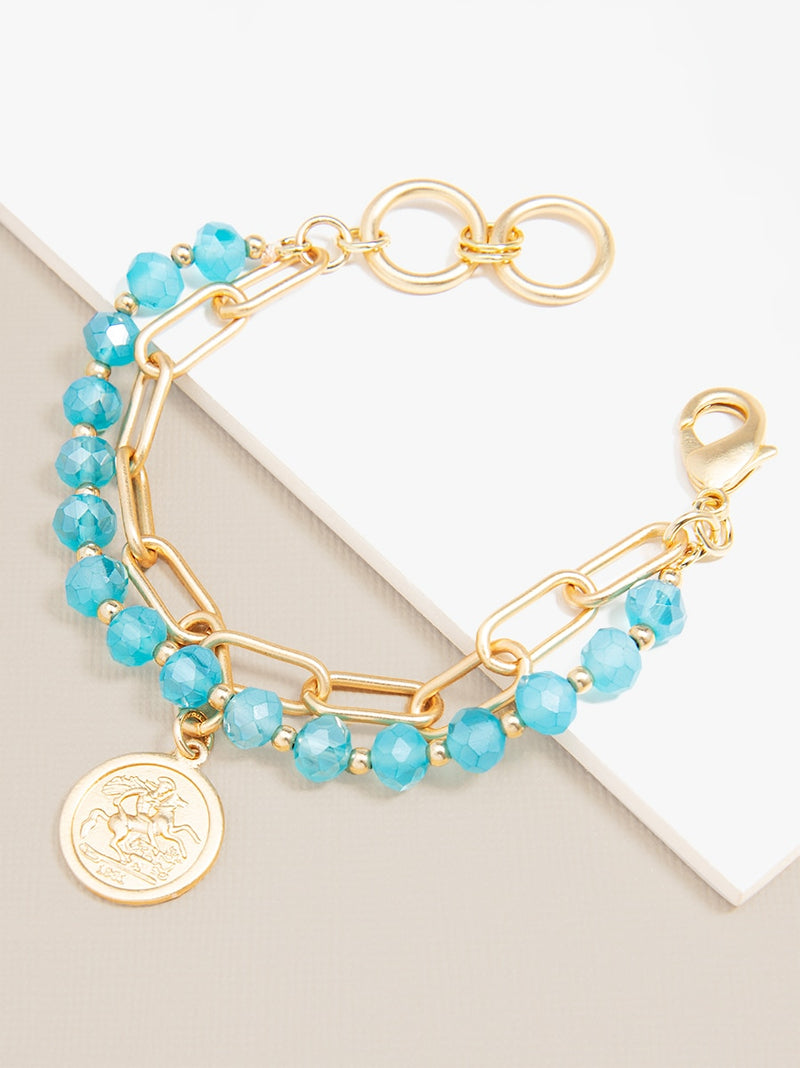 In the Tropics Coin Bracelet