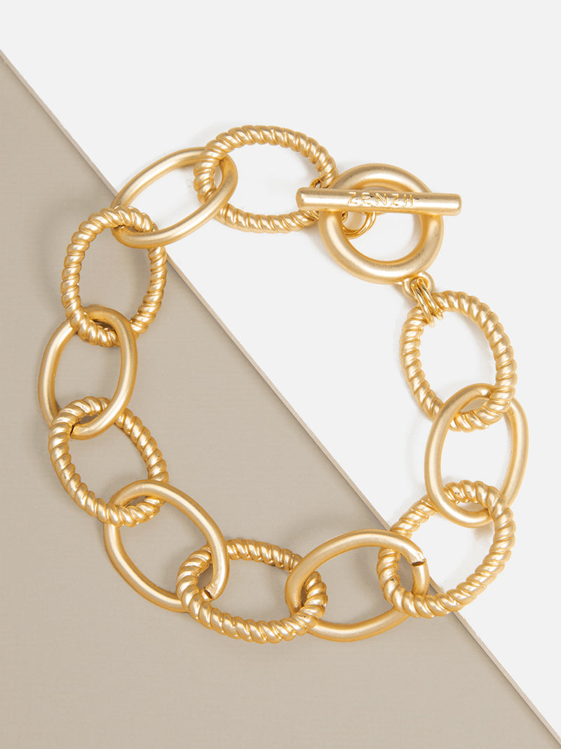 Venus Matte Oval Links Bracelet