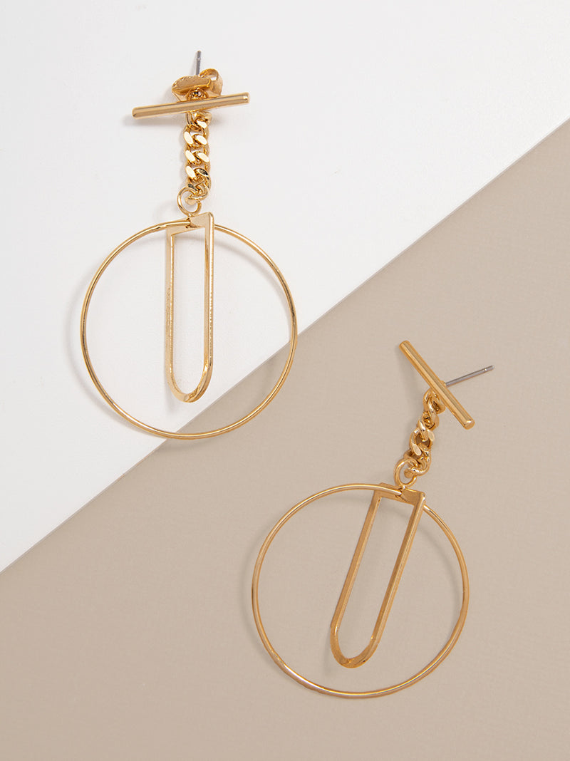 Sybil Toggle Hoop Earring