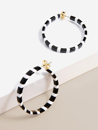 Simply Striped Hoop Earring