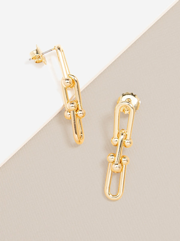 Linked Clips Drop Earring