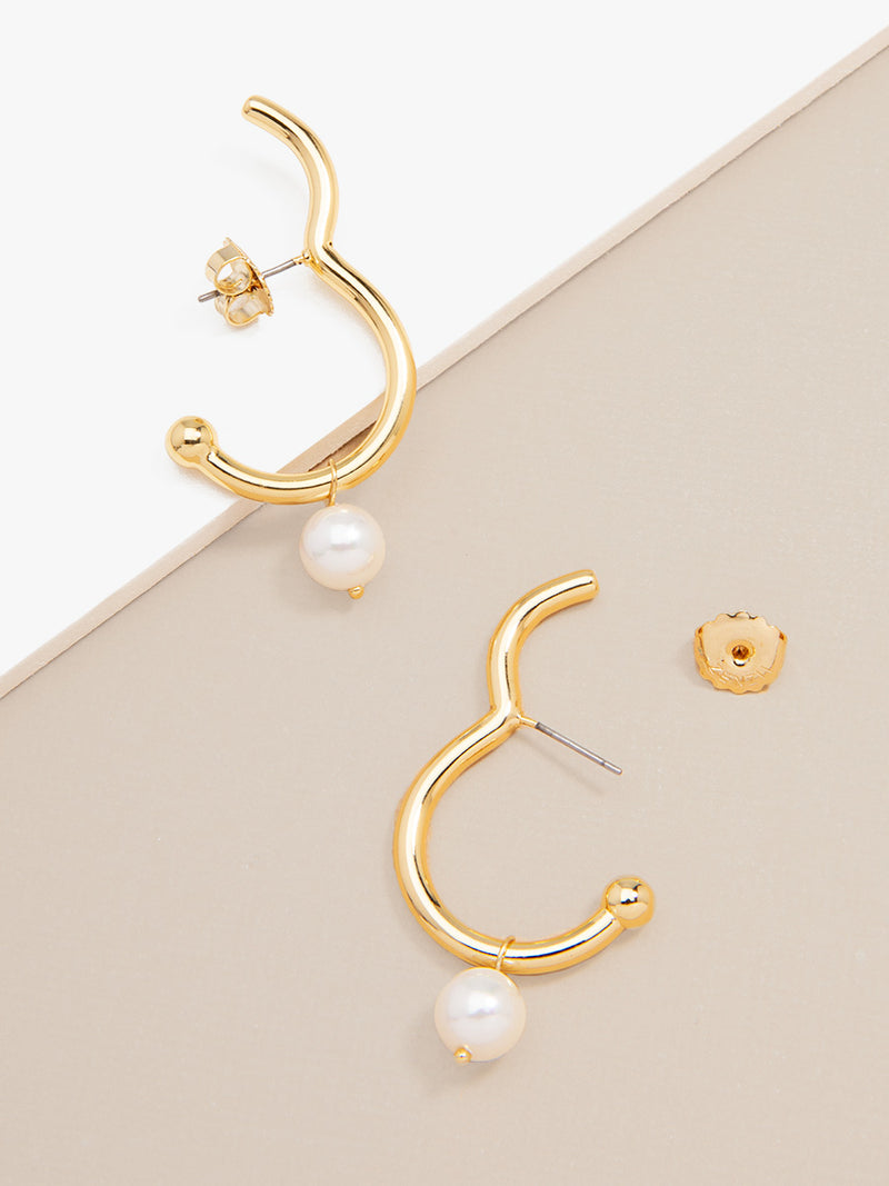 Contemporary Pearl Earring