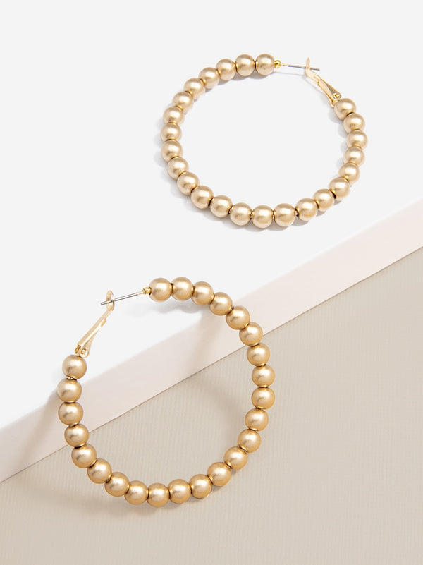Matte Magic Beaded Hoop Earring