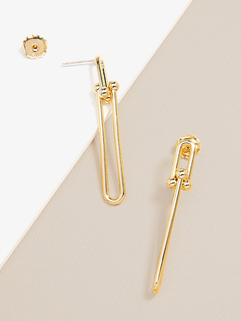 Cable Chain Statement Drop Earring