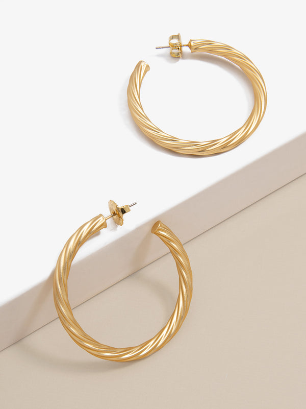 Swirled Statement Hoop Earring