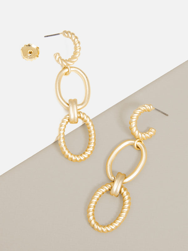 Venus Oval Links Drop Earring