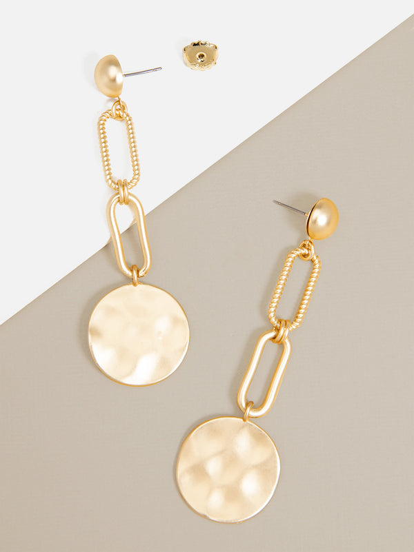 Mercy Links Coin Drop Earring
