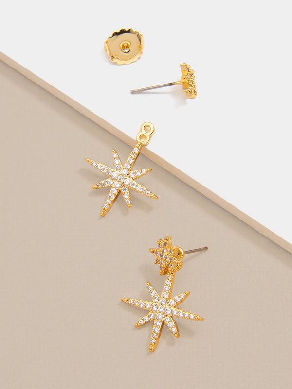 Madge Crystal Starburst Drop Earring