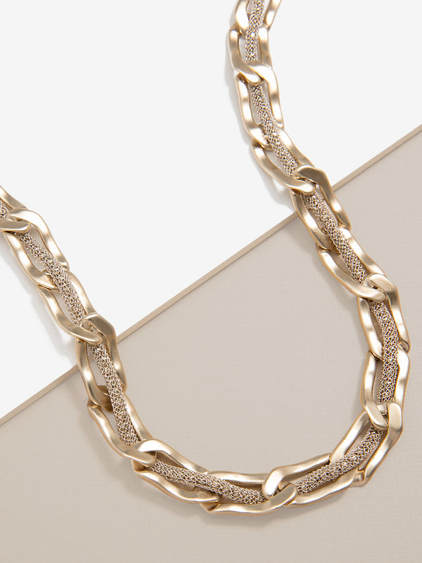 Shimmering Chains Collar Necklace