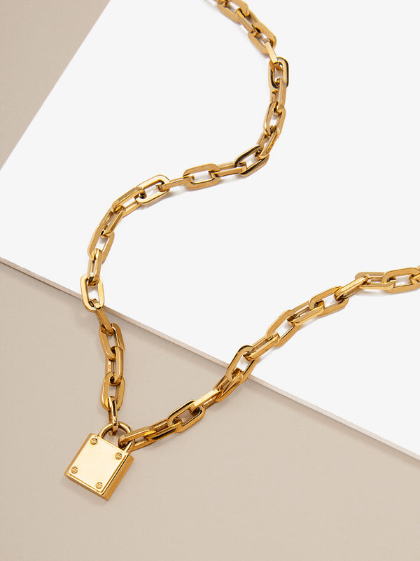Linked Lock Necklace