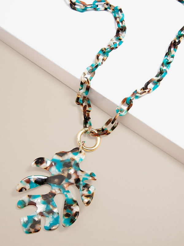 Tropical Torti Leaf Necklace