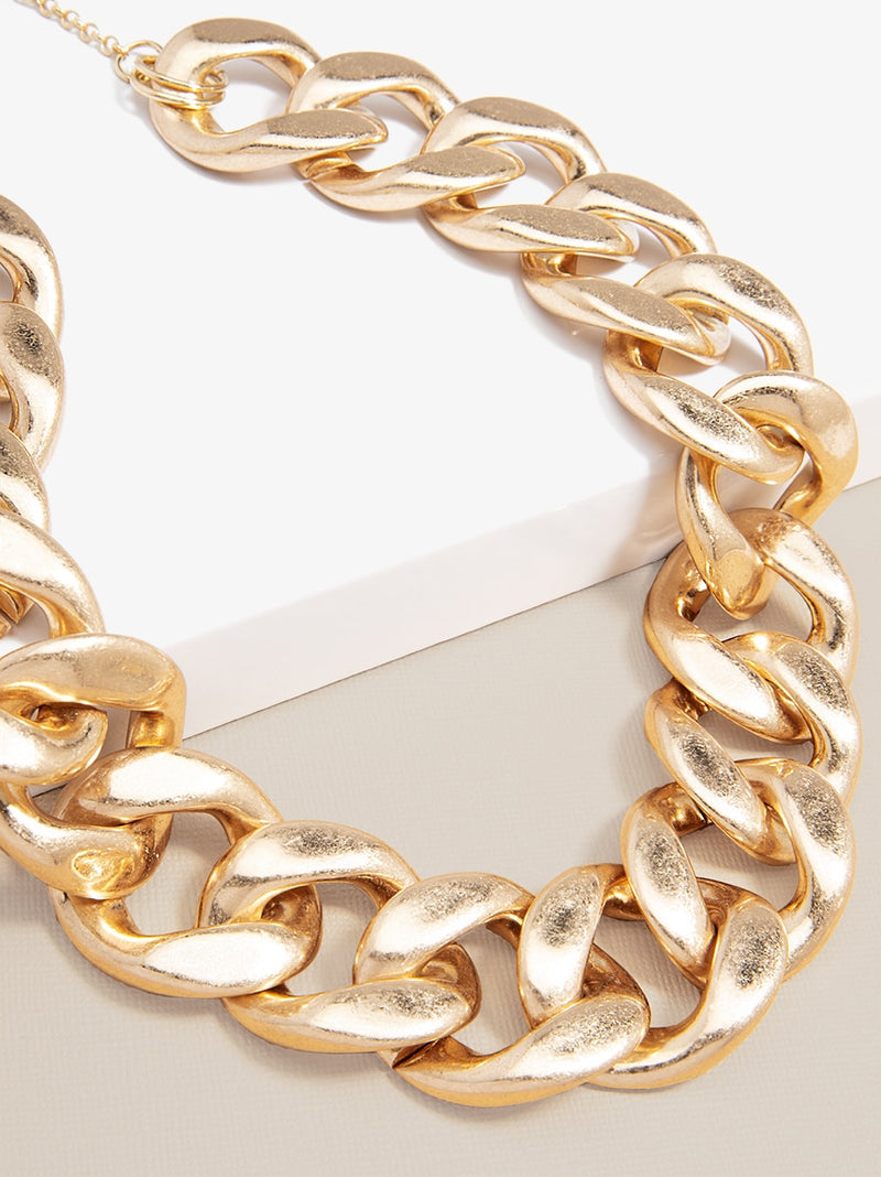 Camilla Large Curb Chain Collar Necklace