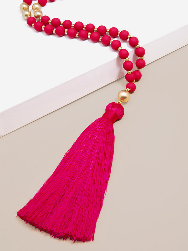 Fringe Forever Beaded Necklace