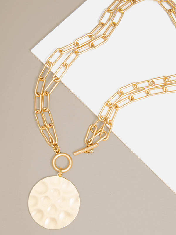 Angela Double-Strand Coin Necklace