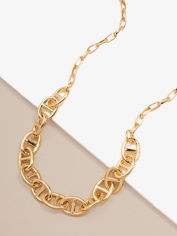 Links of Love Chain Collar Necklace