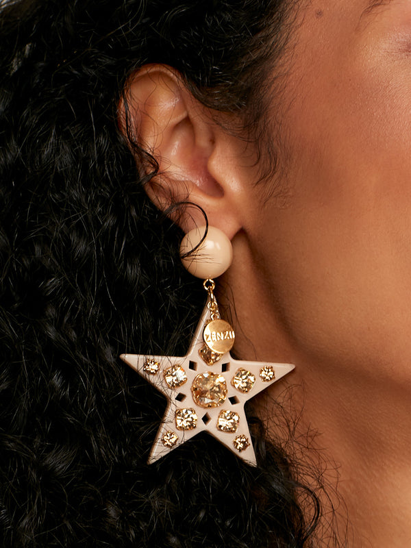 Stellar Statement Crystal Drop Earring