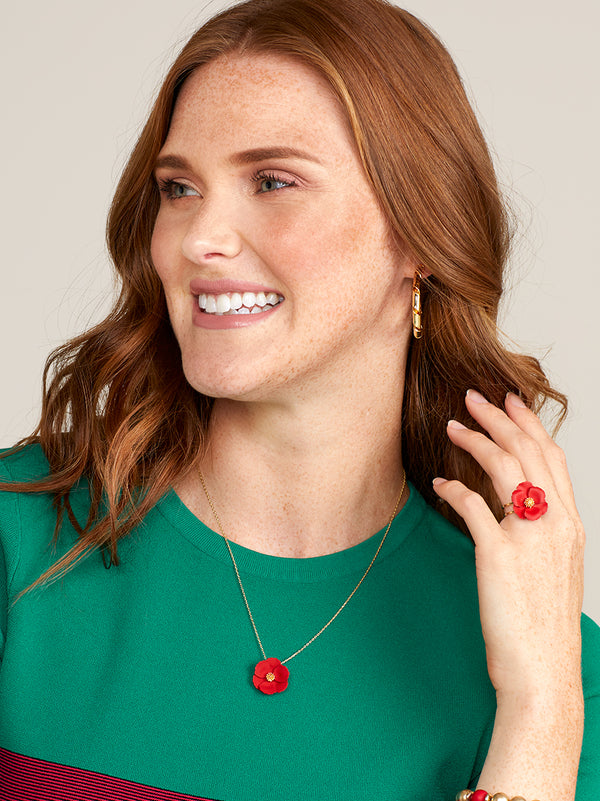 Patricia Petite Poppy Necklace