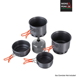 Mons Peak IX Trail 123 HE UL Cook Set with Stove