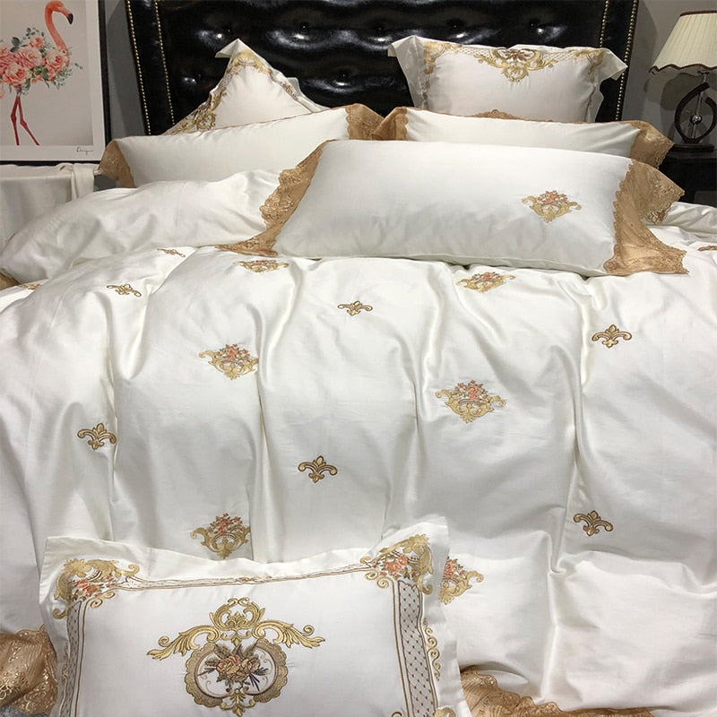 Embroidery Luxury Royal Bedding Set