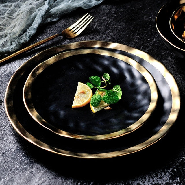 European Gold Edge Tableware