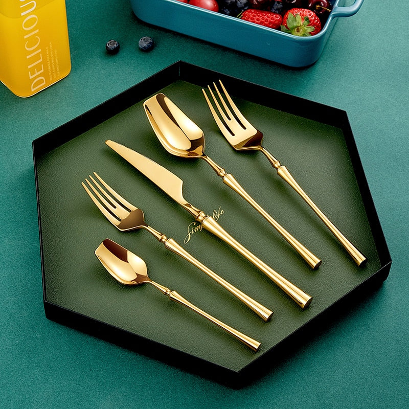 Unique Gold  Flatware