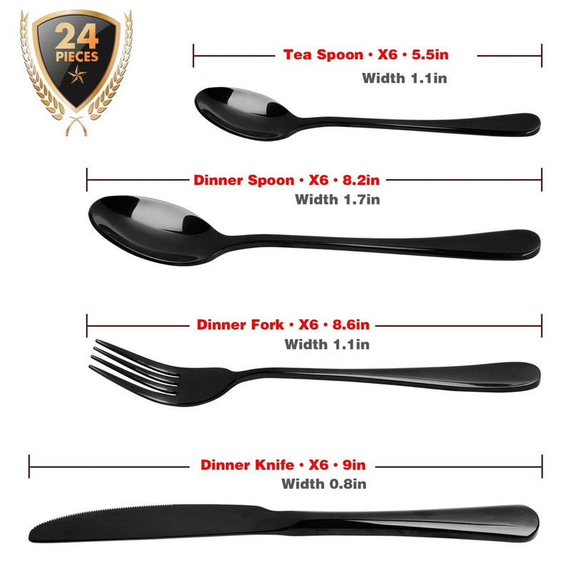 Black Gold Flatware Set