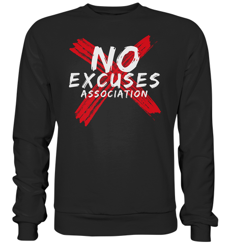 NO EXCUSES ASSOCIATION - Sweatshirt - bodybuildingshirts