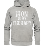 IRON IS MY THERAPY - Basic Unisex Hoodie