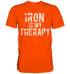 IRON IS MY THERAPY - Shirt - bodybuildingshirts