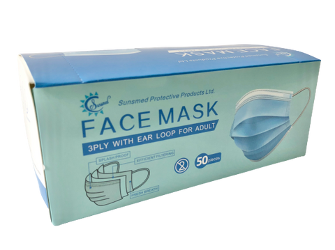 Disposable Surgical Masks - carton of 40 boxes (2000pcs)