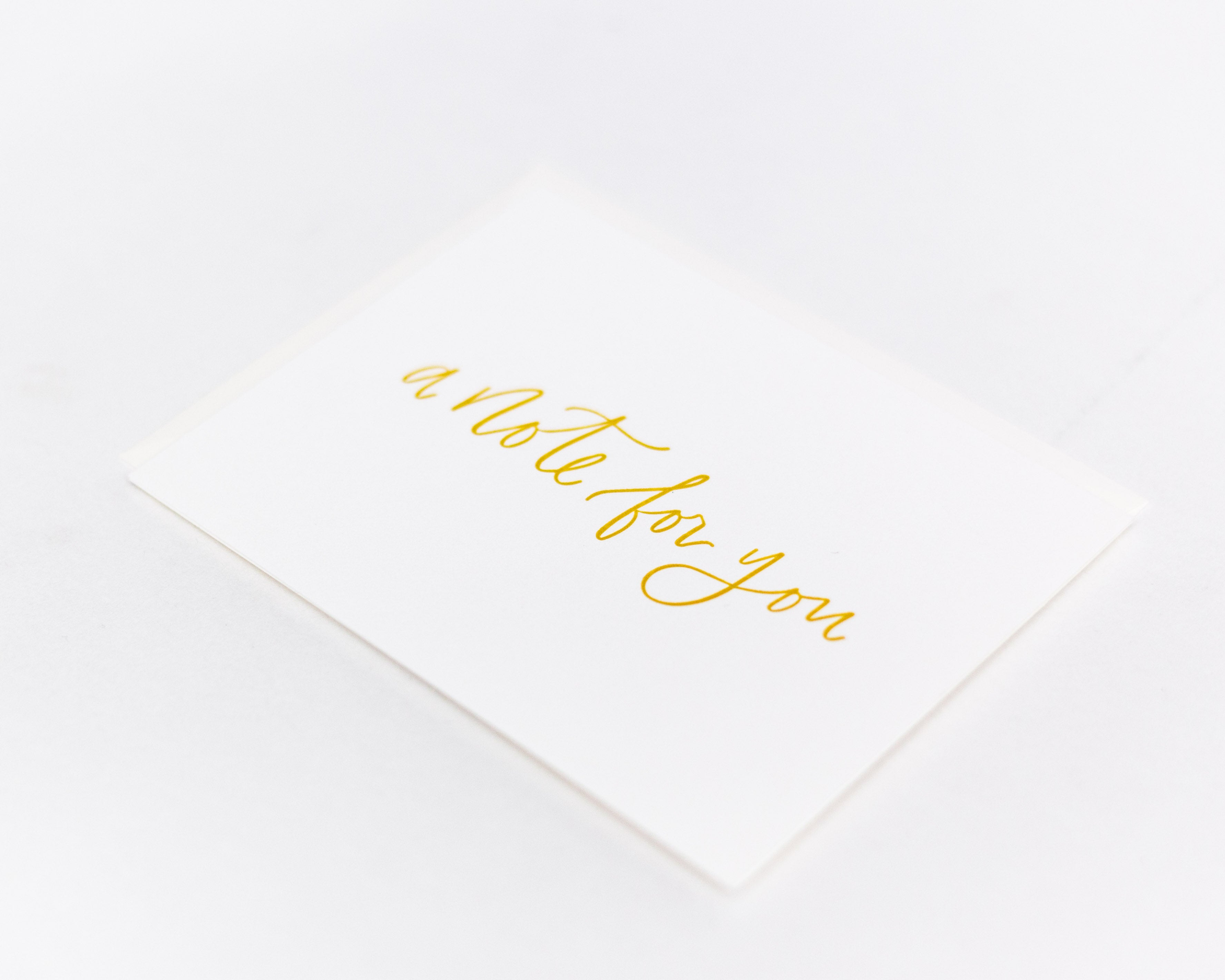 A Note for You Card