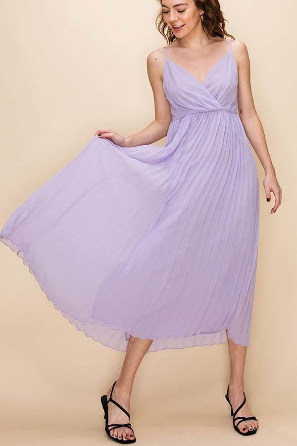 SWEET HEART DRESS W/ PLEATED SKIRT