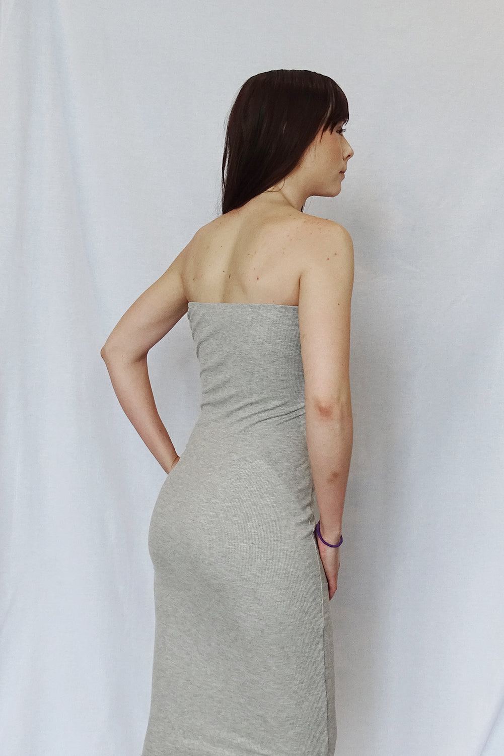 Form Fitting Ribbed Tube Dress