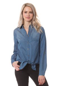 Denim Tie Front Shirt