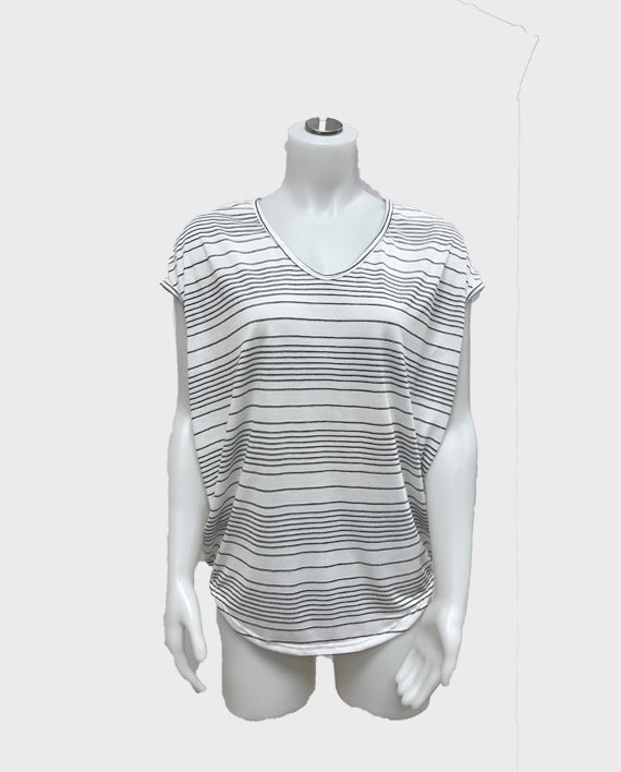 Thin Stripe Loose T-Shirt