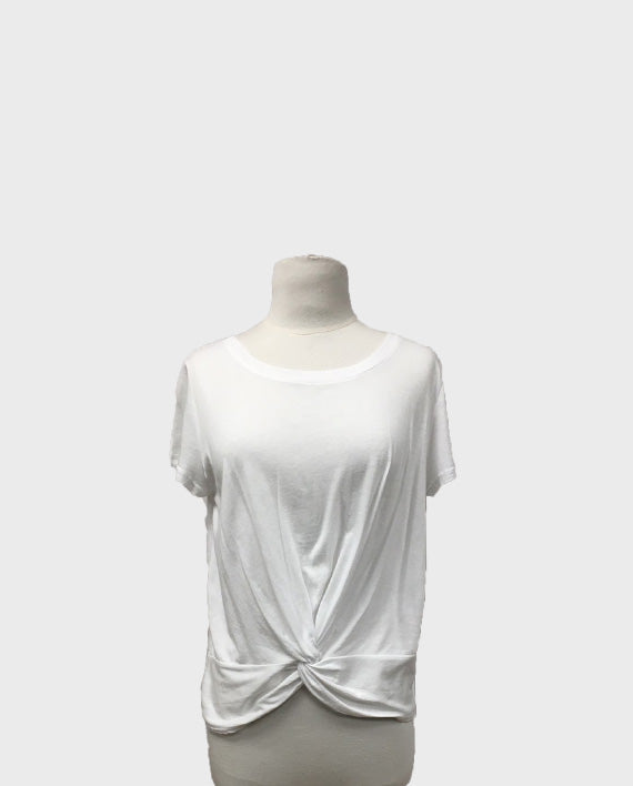 Cotton Front Knot Tee