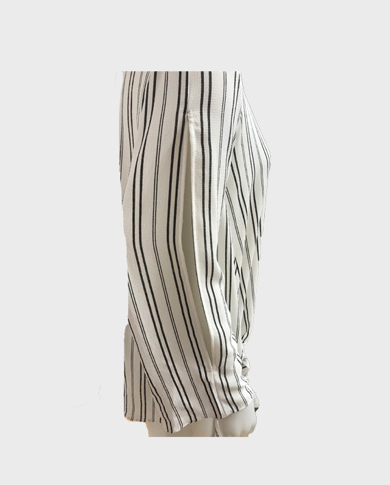 Stripe Top with Sleeve Slits