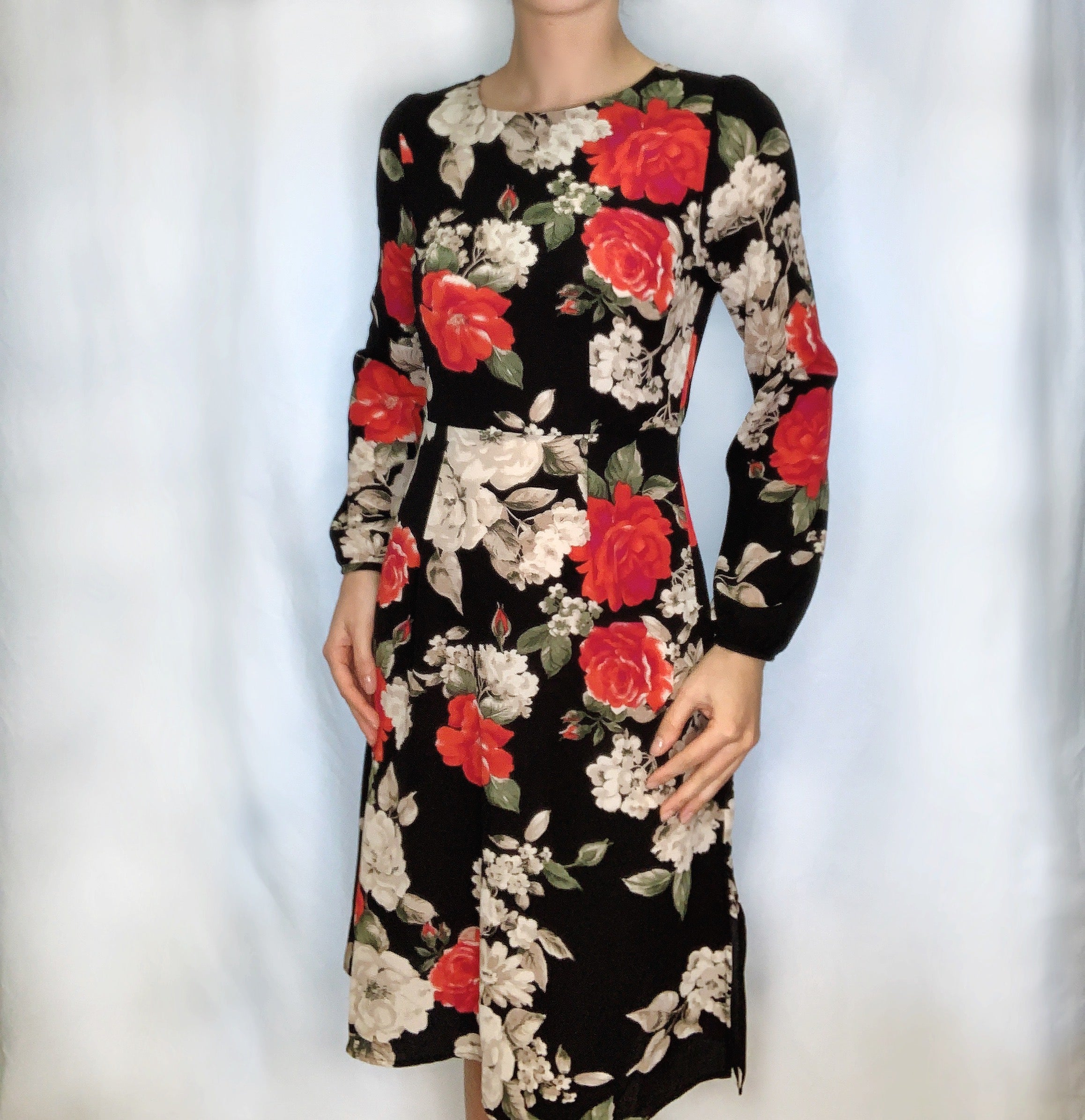 Roses Long Sleeve Dress