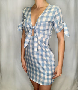 Light Checker Dress