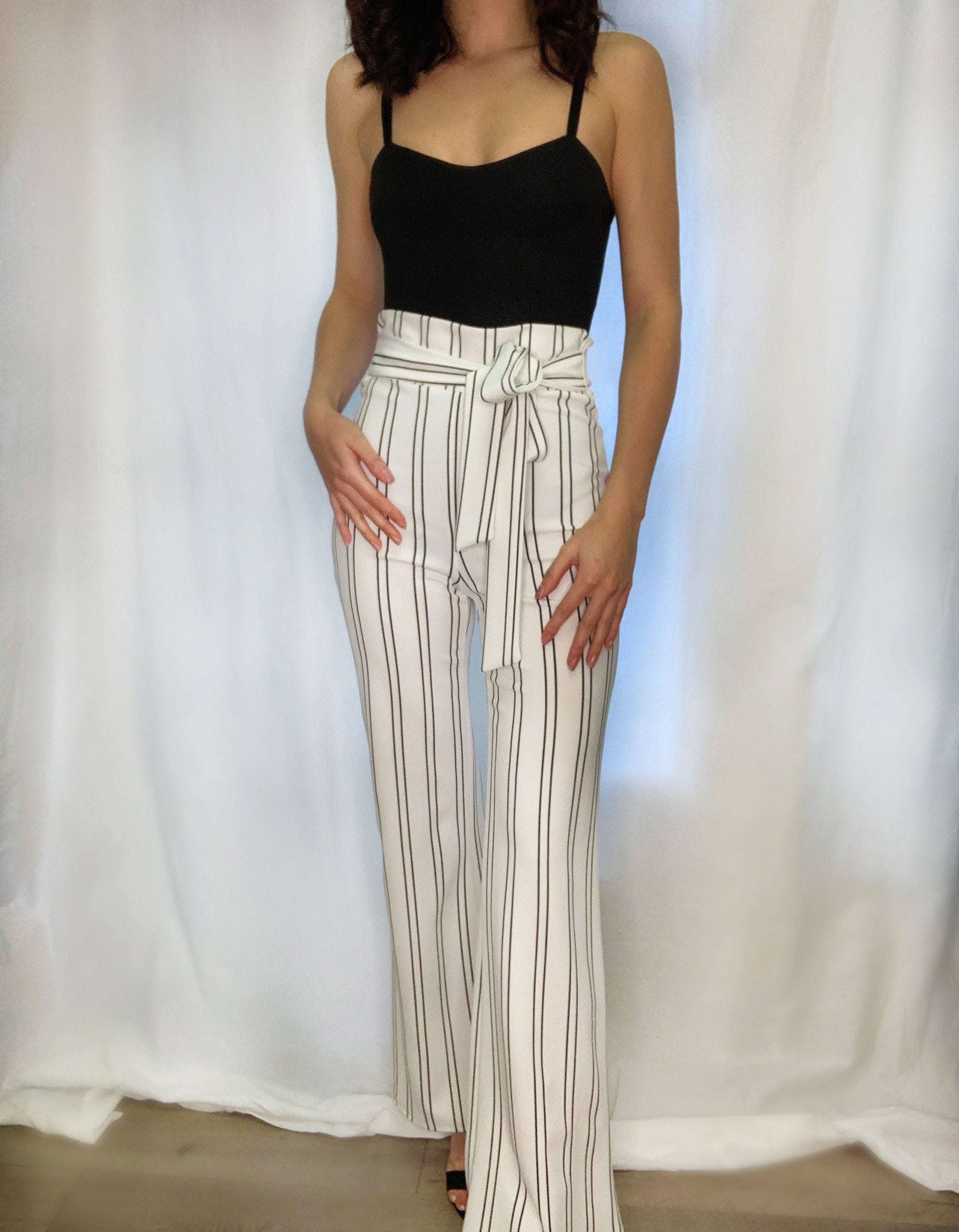 Stripe Dressy High Waist Pants $16/each
