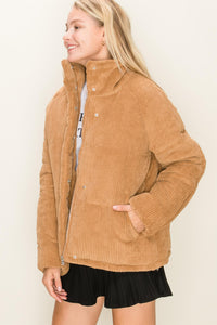 BUY 1 GET 1 15% : Corduroy Puffer Jacket
