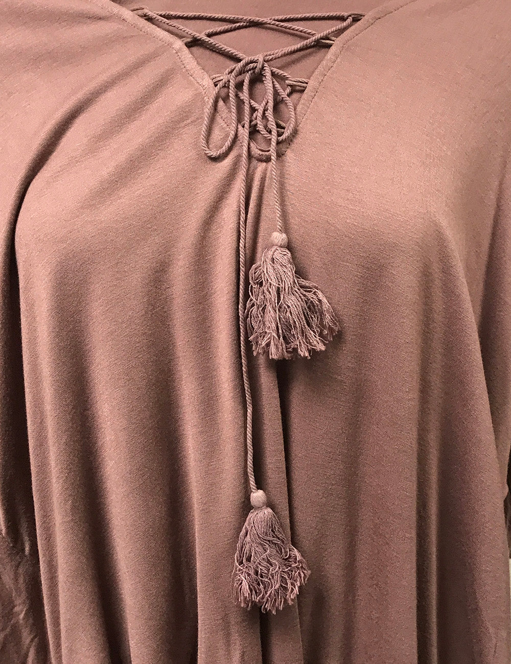Lace Up Tassel Dolman