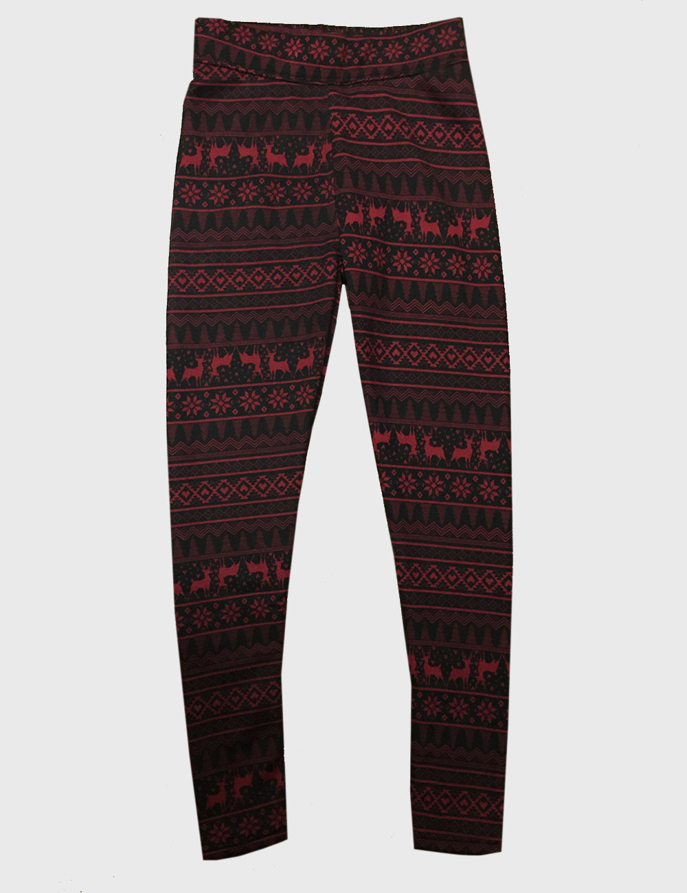 Reindeer Fleece Lined Leggings