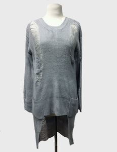 Distressed Sweater With Pockets